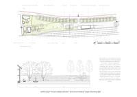 prikaz prve stranice dokumenta Grafički prilog 5: Koncept uređenja odmorišno-servisne zone Kanfanar, presjek  odmorišnog dijela
