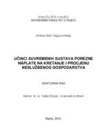 prikaz prve stranice dokumenta Učinci suvremenih sustava porezne naplate na kretanje i procjenu neslužbenog gospodarstva