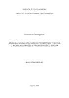 prikaz prve stranice dokumenta Analiza signalizacijskih prometnih tokova u mobilnoj mreži s prenosivošću broja