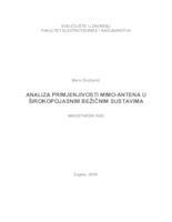 prikaz prve stranice dokumenta Analiza primjenjivosti MIMO-antena u širokopojasnim bežičnim komunikacijama
