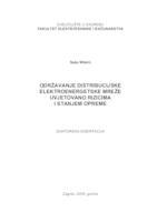 prikaz prve stranice dokumenta Održavanje distribucijske elektroenergetske mreže uvjetovano rizicima i stanjem opreme