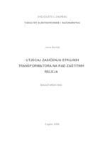 prikaz prve stranice dokumenta Utjecaj zasićenja strujnih transformatora na rad zaštitnih releja
