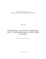 prikaz prve stranice dokumenta Određivanje svojstava cementnog gela transverzalnim ultrazvučnim valovima