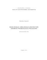 prikaz prve stranice dokumenta Modeliranje i simuliranje arhitekture dinamički promjenjivog procesora