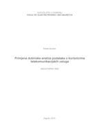 prikaz prve stranice dokumenta Primjena dubinske analize podataka o korisnicima telekomunikacijskih usluga
