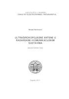 prikaz prve stranice dokumenta Ultraširokopojasne antene u radarskim i komunikacijskim sustavima
