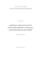prikaz prve stranice dokumenta Mjerenje i analiza kvalitete električne energije u ruralnoj elektrodistribucijskoj mreži