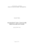 prikaz prve stranice dokumenta Pouzdanost veze u digitalnim mikrovalnim sustavima
