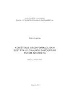 prikaz prve stranice dokumenta Korištenje geoinformacijskih sustava u lokalnoj samoupravi putem Interneta