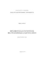 prikaz prve stranice dokumenta Implementacija statističkog multipleksiranja u sustavu DVB-H