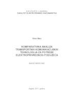 prikaz prve stranice dokumenta Komparativna analiza transportnih komunikacijskih tehnologija za potrebe elektroprivrednog poduzeća