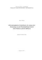 prikaz prve stranice dokumenta Programska podrška za analizu pogona elektroenergetskih distribucijskih mreža