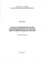 prikaz prve stranice dokumenta Utjecaj distribuiranih izvora električne energije na relejnu zaštitu mreže srednjeg napona