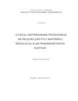 prikaz prve stranice dokumenta Utjecaj distribuirane proizvodnje na relejnu zaštitu i naponsku regulaciju elektroenergetskog sustava