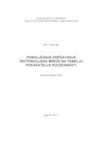 prikaz prve stranice dokumenta Poboljšanje održavanja distribucijske mreže na temelju pokazatelja pouzdanosti