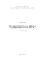 prikaz prve stranice dokumenta Tehnološki neutralna dodjela radiofrekvencijskog spektra