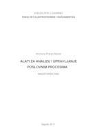 prikaz prve stranice dokumenta Alati za analizu i upravljanje poslovnim procesima