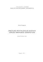 prikaz prve stranice dokumenta Značajke revitalizacije sustava uzbude sinkronog stroja