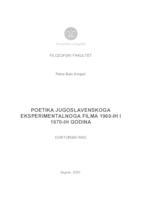 prikaz prve stranice dokumenta Poetika jugoslavenskoga eksperimentalnoga filma 1960-ih i 1970-ih godina