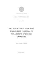 prikaz prve stranice dokumenta Utjecaj protokola testa hodanja s progresivnim opterećenjem na pokretnom sagu na pokazatelje energetskih kapaciteta