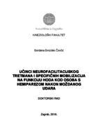 prikaz prve stranice dokumenta Učinci neurofacilitacijskog tretmana i specifičnih mobilizacija na funkciju hoda kod osoba s hemiparezom nakon moždanog udara