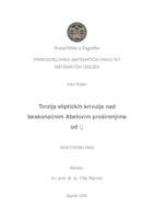 prikaz prve stranice dokumenta Torzija eliptičkih krivulja nad beskonačnim Abelovim proširenjima