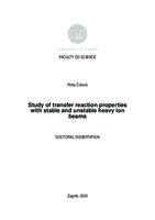 prikaz prve stranice dokumenta Study of transfer reaction properties with stable and unstable heavy ion beams